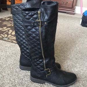 Bamboo black knee boots